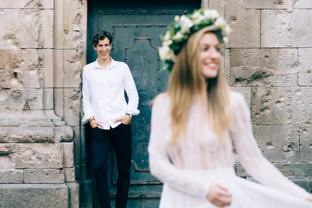 Artsy Hochzeitsfotografie in Barcelona