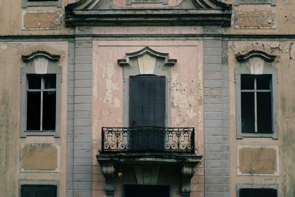 Schloss Dammsmühle - Das erste Stockwerk der Front