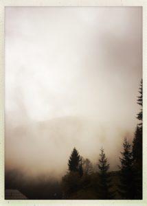 Ein regnerischer Wolken verhangener Tag im Tuxertal.