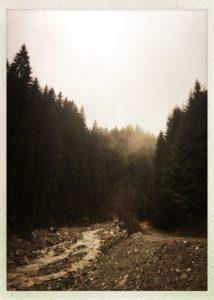 Tuxertal im Oktober bei Regenwetter.