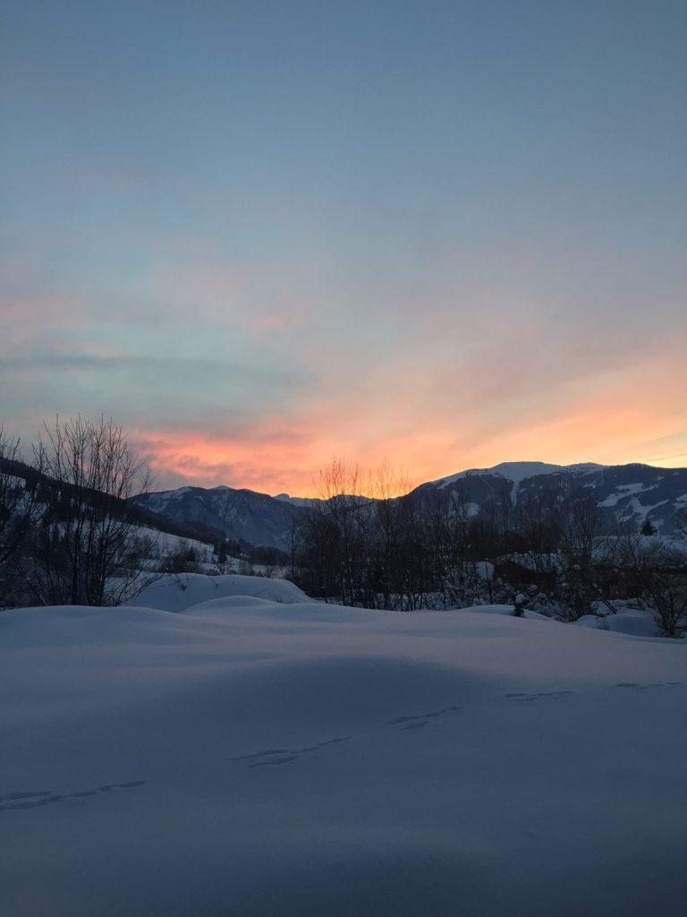 Super ramontischer Sonnenuntergang in Maria Alm