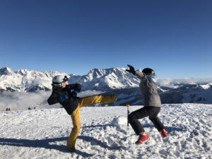 We kungfu in Österreich. Maria Alm.