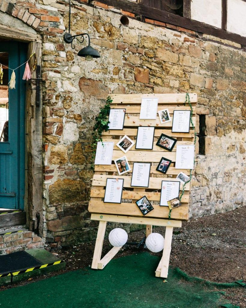 Rückseite der Seminarräume, gestaltet für eine Hochzeit auf dem Rittergut Dorstadt.